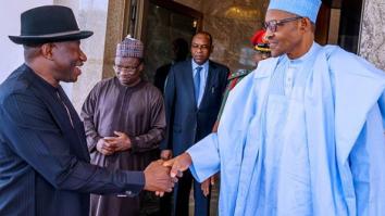 President Buhari And Goodluck Jonathan