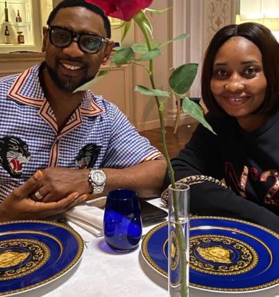 Biodun Fatoyinbo and wife wedding anniversary dinner photo