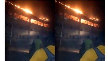 DELSU hotel fire, DELSU hotel fire photo