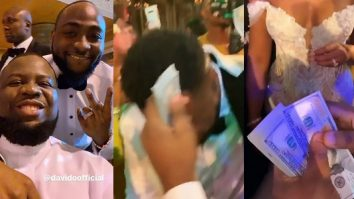 Viral Video Of Hushpuppi Spraying Dollars At Adewale Adeleke And Kani's Wedding In Dubai
