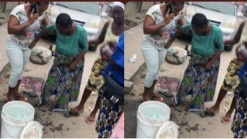 Woman Gives Birth To A Baby Girl In The Middle Of The Road In Egbeda, Lagos